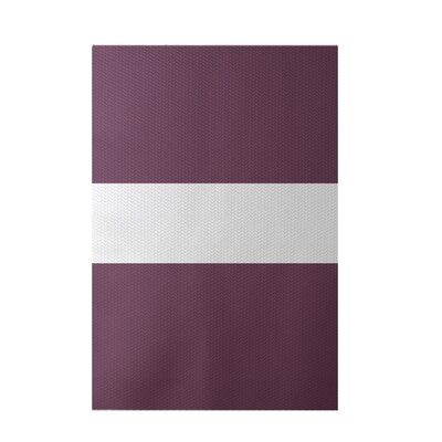 Narrow the Gap Stripe Print Plum Indoor/Outdoor Area Rug Rug Size: 5 x 7