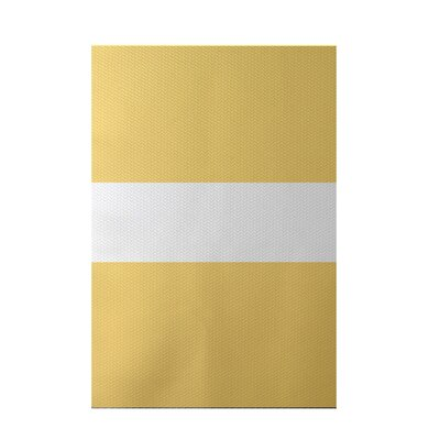 Narrow the Gap Stripe Print Soft Lemon Indoor/Outdoor Area Rug Rug Size: 5 x 7
