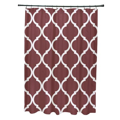 French Quarter Geometric Print Shower Curtain Color: Mahogany