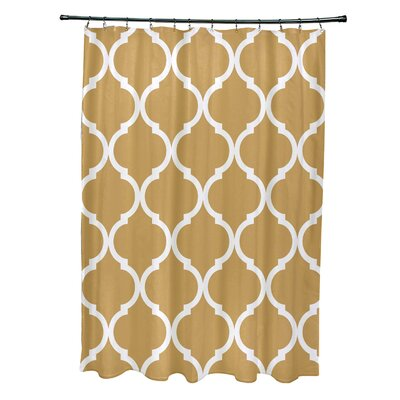 French Quarter Geometric Print Shower Curtain Color: Dijon