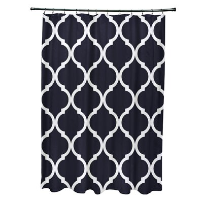 French Quarter Geometric Print Shower Curtain Color: Bewitching