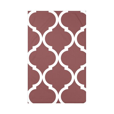 French Quarter Geometric Print Polyester Fleece Throw Blanket Size: 60 L x 50 W x 0.5 D, Color: Mahogany
