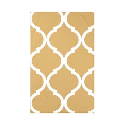 French Quarter Geometric Print Polyester Fleece Throw Blanket Size: 60 L x 50 W x 0.5 D, Color: Dijon