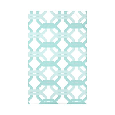 Were All Connected Geometric Print Polyester Fleece Throw Blanket Size: 60 L x 50 W x 0.5 D, Color: Ocean