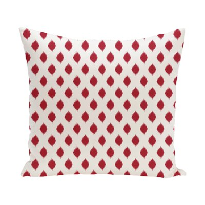 Cop-Ikat Geometric Print Outdoor Throw Pillow Color: Formula One, Size: 20 x 20