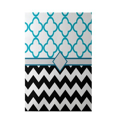 Express Line Geometric Print Black Indoor/Outdoor Area Rug Rug Size: 5 x 7