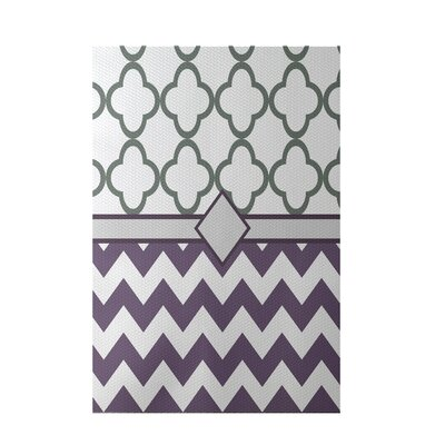 Express Line Geometric Print Purple Indoor/Outdoor Area Rug Rug Size: 4 x 6
