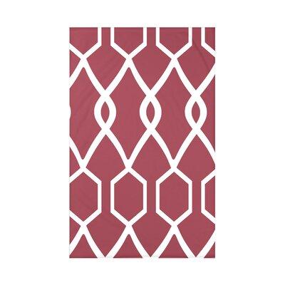 Charleston Geometric Print Polyester Fleece Throw Blanket Size: 60 L x 50 W x 0.5 D, Color: Brick
