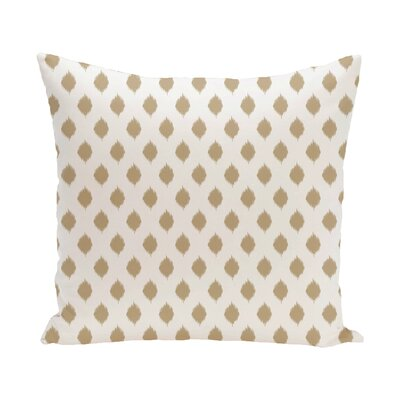Cop-Ikat Geometric Print Outdoor Pillow Color: Khaki, Size: 20 H x 20 W x 1 D