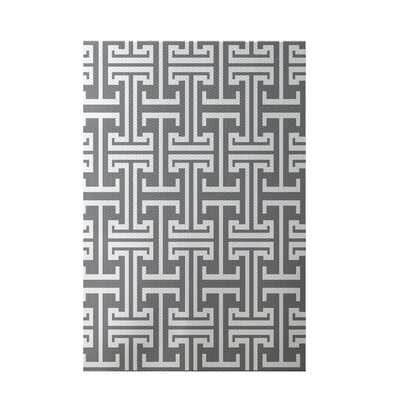 Greek Isles Geometric Print Classic Gray Indoor/Outdoor Area Rug Rug Size: 2 x 3