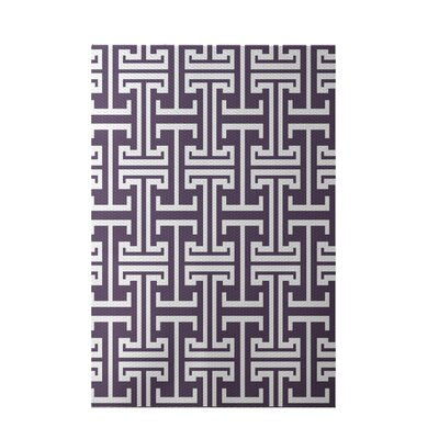 Greek Isles Geometric Print Larkspur Indoor/Outdoor Area Rug Rug Size: 5 x 7
