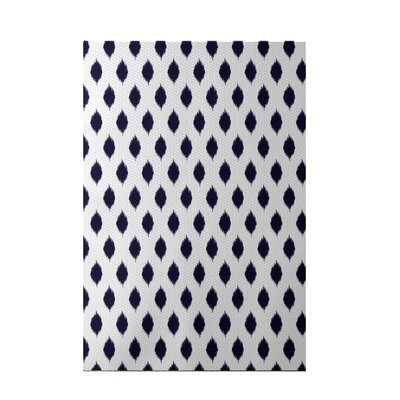 Cop-Ikat Geometric Print Navy Blue Indoor/Outdoor Area Rug Rug Size: 3 x 5