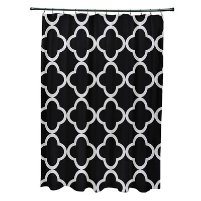 Marrakech Express Geometric Print Shower Curtain Color: Raven