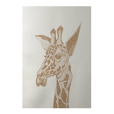 Safari Giraffe Print Off White Indoor/Outdoor Area Rug Rug Size: 5 x 7