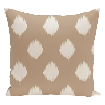 Geometric Decorative Floor Pillow Color: Brown/White