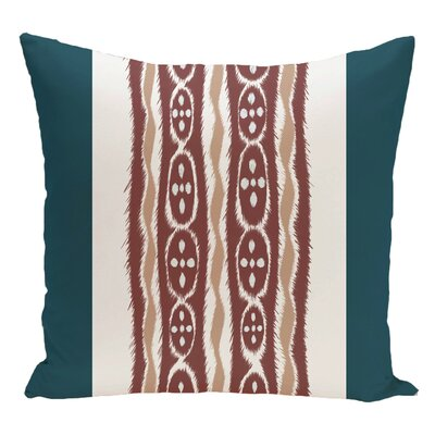 Stripe Decorative Floor Pillow Color: Blue/Brown