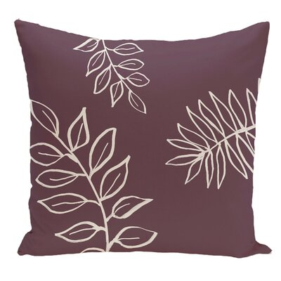 Floral Decorative Floor Pillow Color: Purple/White