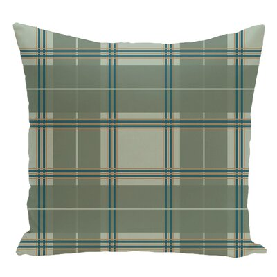 Plaid Decorative Floor Pillow Color: Green