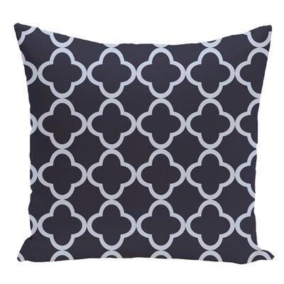 Geometric Decorative Floor Pillow Color: Blue