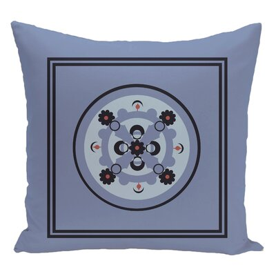 Geometric Decorative Floor Pillow Color: Blue