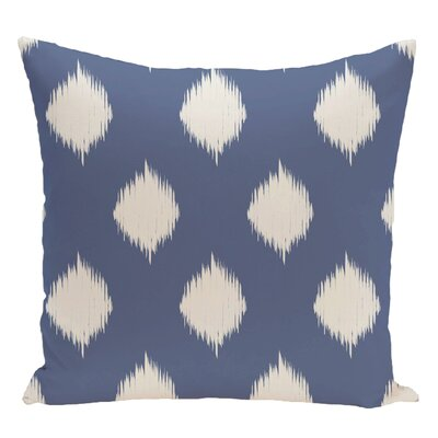 Geometric Decorative Floor Pillow Color: Slate Blue/Off White