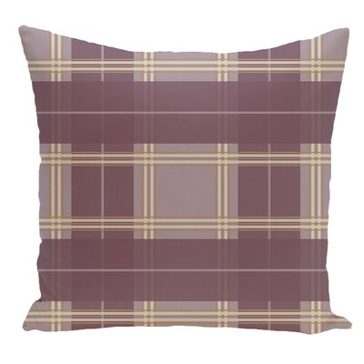 Plaid Decorative Floor Pillow Color: Purple