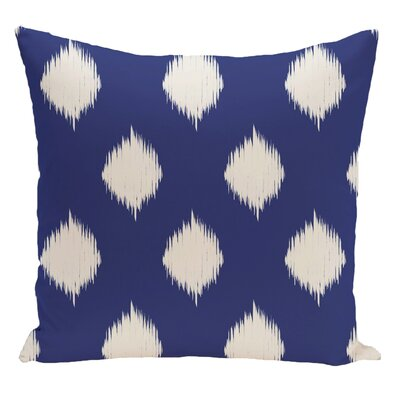 Geometric Decorative Floor Pillow Color: Royal Blue/Off White