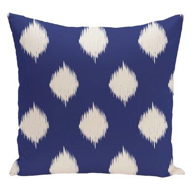 Geometric Decorative Floor Pillow Color: Royal Blue/Off White