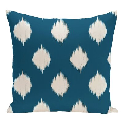 Geometric Decorative Floor Pillow Color: Teal/Off White