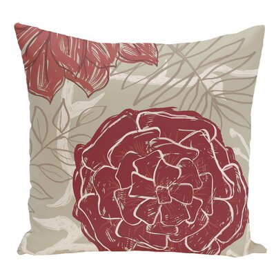 Floral Decorative Floor Pillow Color: Red/Orange