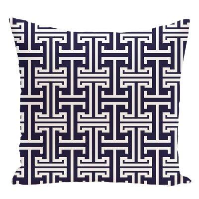 Geometric Decorative Floor Pillow Color: Navy Blue