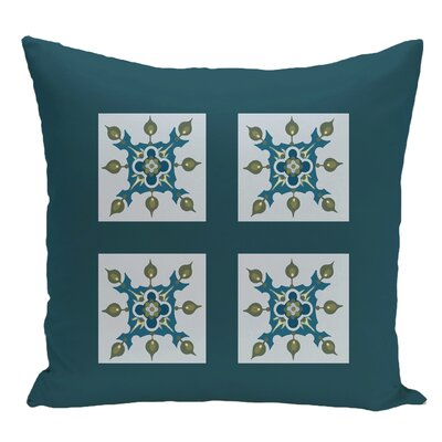 Geometric Decorative Floor Pillow Color: Teal/Light Blue