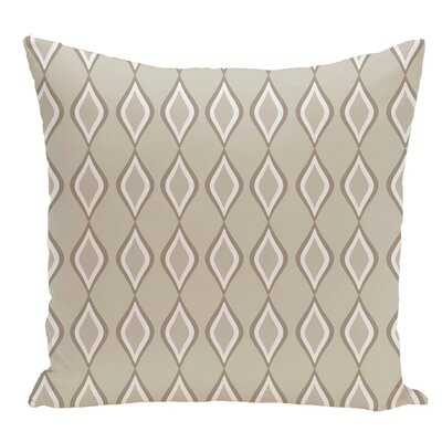 Geometric Decorative Floor Pillow Color: Off White/Brown