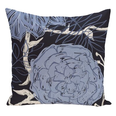 Floral Decorative Floor Pillow Color: Blue