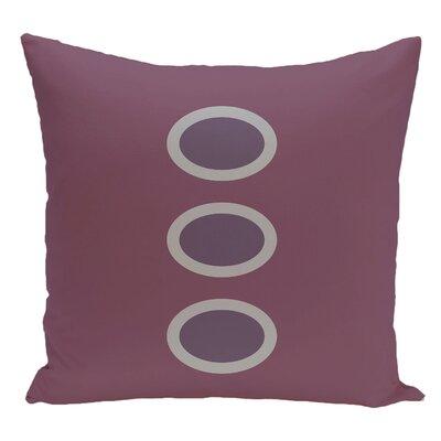 Geometric Decorative Floor Pillow Color: Purple