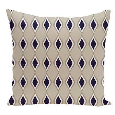 Geometric Decorative Floor Pillow Color: Dark Blue/Brown
