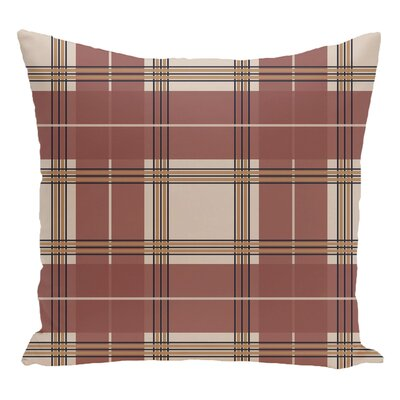 Plaid Decorative Floor Pillow Color: Brown