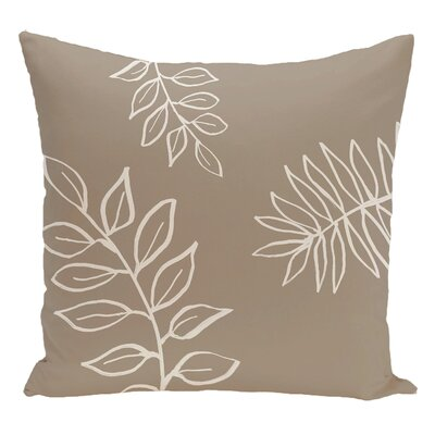 Floral Decorative Floor Pillow Color: Brown/White
