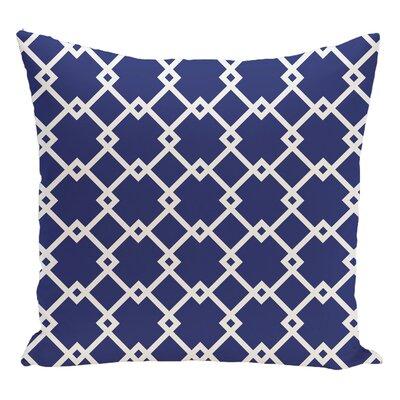 Geometric Decorative Floor Pillow Color: Royal Blue