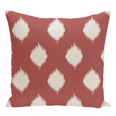 Geometric Decorative Floor Pillow Color: Orange/White