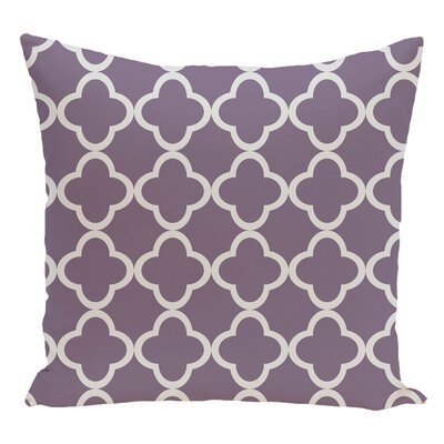 Geometric Decorative Floor Pillow Color: Purple/Gray
