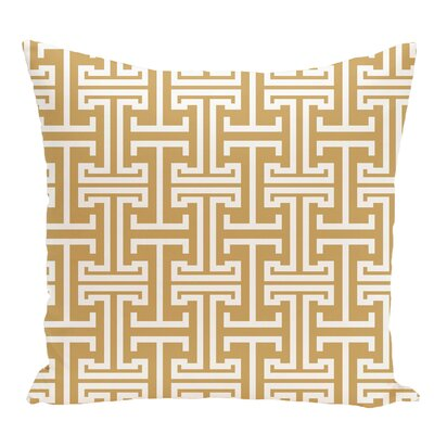 Geometric Decorative Floor Pillow Color: Yellow