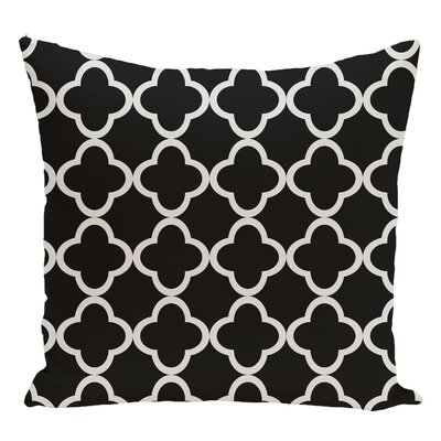 Geometric Decorative Floor Pillow Color: Black/Gray