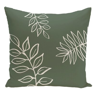 Floral Decorative Floor Pillow Color: Green/White