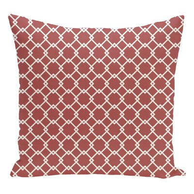 Geometric Decorative Floor Pillow Color: Orange