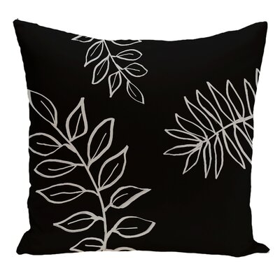 Floral Decorative Floor Pillow Color: Black/Gray