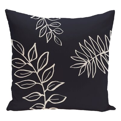 Floral Decorative Floor Pillow Color: Blue/White