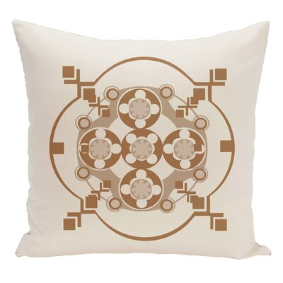 Decorative Floor Pillow Color: White/Brown
