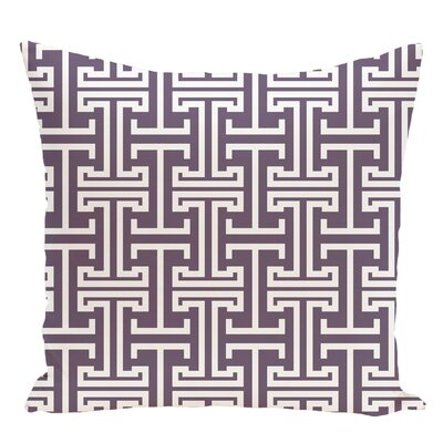 Geometric Decorative Floor Pillow Color: Purple