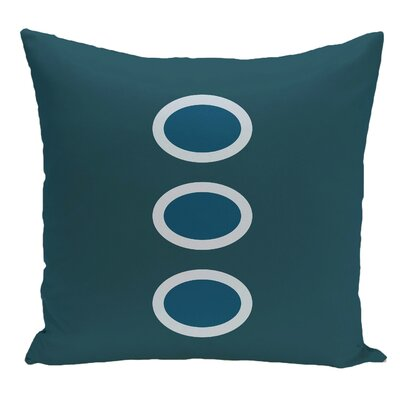 Geometric Decorative Floor Pillow Color: Teal